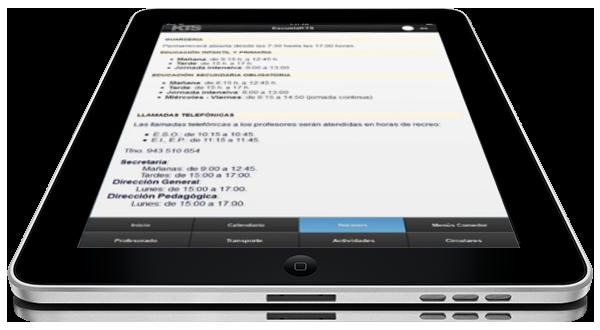 Tablet con App